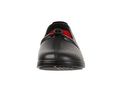 Women's SAS Funk Leather Slip on (8.5 (W) Wide, Black)