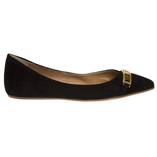 Point Love Negro Logo Moschino Zapatos Mujer Ballet qwBZwp