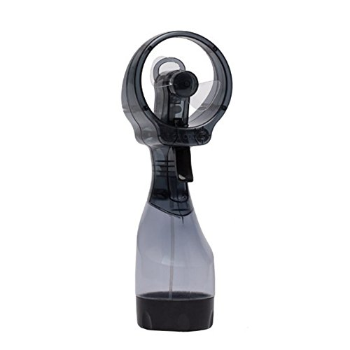 O2COOL Deluxe Misting Fan, Handheld Misting Fan, Battery Operated Fan, Water Spray Fan, Mini Portable Desk Fan, Personal Cooling Fan for Outdoor, Fine Mist Sprayer, Gray -