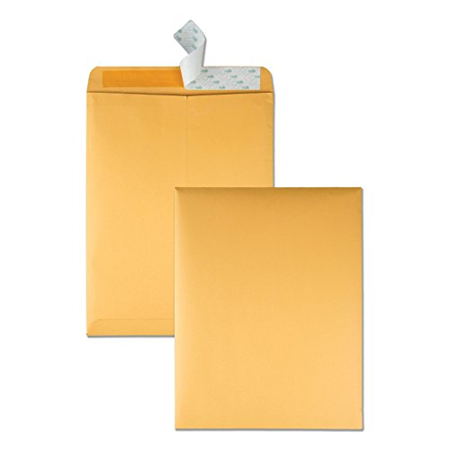 Quality Park 10 x 13 Catalog Envelopes with Self Seal Closure, 28 lb Brown Kraft, Great Option for Mailing, Storage and Organizing, 100 per Box (44762)