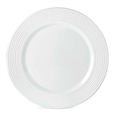 "Tin Can Alley 11"" Seven Degree Dinner Plate  Color: White"