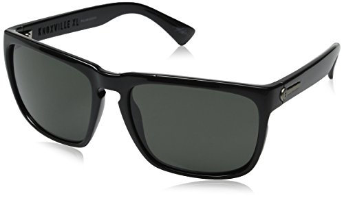 Electric Knoxville XL Polarized Iridium Wayfarer Sunglasses, Gloss Black, 56 mm by Electric Visual