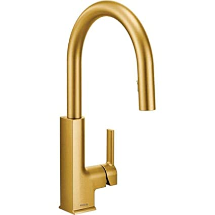 Moen S72308bg Sto Collection Kitchen Faucet Brushed Gold Amazon Com