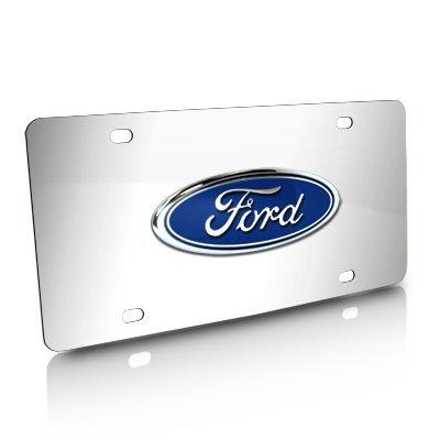ford chrome license plate - 1