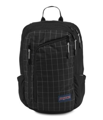 JanSport Platform Laptop Backpack - Black Reflective Grid