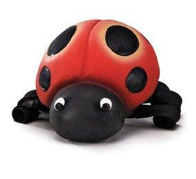 Petsafe Squeeze Meeze Latex Dog Toy, Ladybug