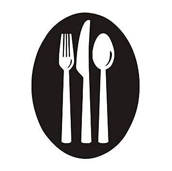 Un Conjunto De Tenedores Cuchillos Y Cucharas Pegatinas de ...
