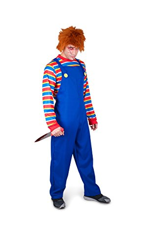 Easy Guy Costumes Halloween (Men's Evil Doll Costume - Halloween Costume Party Accessory - Medium)