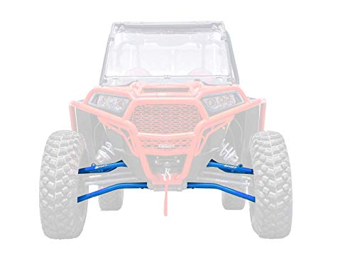 SuperATV Heavy Duty High Clearance Forward Offset Front A-Arms for Polaris RZR XP 1000 / XP Turbo / 1000 4 / Turbo 4 (2014+) - Voodoo/Velocity Blue - Includes All ()
