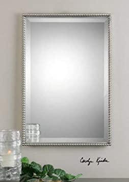 Uttermost Sherise Rectangle Mirror 1.5 x 21 x 31 , Brushed Nickel