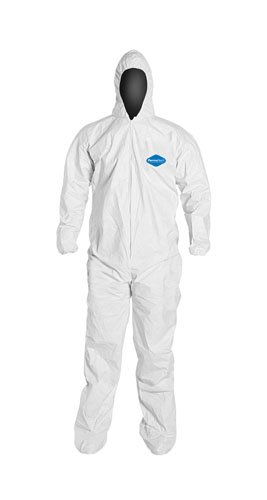 Liberty PermaGard Micro-Porous Film Over SpunBonded Polypropylene Zipper Front Coverall with Attached Hood and Elastic Ankles, 4X-Large (Case of 25)