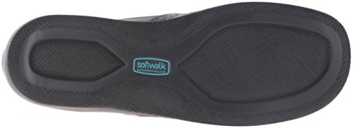 Softwalk Adora Schmal Rund Leder Slipper Grau