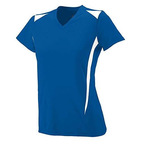 Augusta Sportswear Women's Premier Jersey 2XL Royal/White