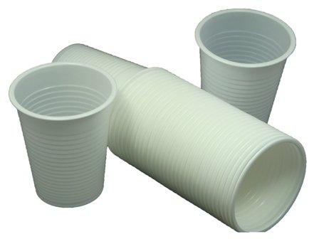 1000 X White Disposable PLASTIC CUPS GLASSES 7oz (190ml)  24HR DEL