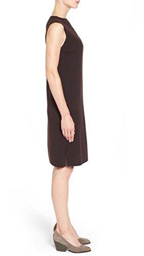(Eileen Fisher Sleeveless Funnel-Neck Wool Sheath Dress (2X))