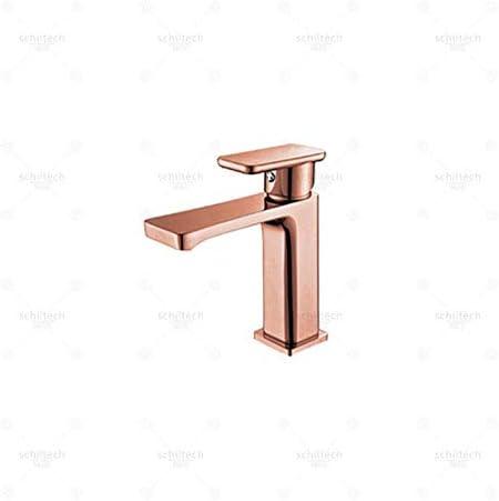 Honana 蛇口, バスルームのシンクは、スロット付き浴室の洗面台のシンクホットコールドタップミキサー流域の真鍮シンクミキサータップ非震とう浴室の蛇口背の高い鉛フリー銅ゴールデンローズゴールド流域の蛇口をタップ キッチン蛇口 混合水栓