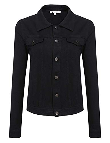 Autunno Breasted Cappotto Single Casual Schwarz Giacca Manica Coat Corto Primaverile Slim Eleganti Colore Fit Moda Di Giaccone Donna Lunga Bavero Puro Outwear waqpxdw