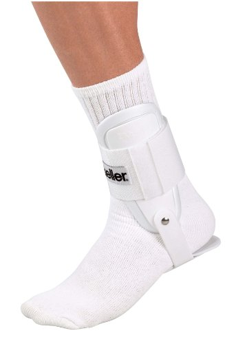Mueller Sports Medicine Lite Ankle Brace, White, One Size Fits Most