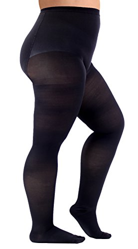 e5d0fceb14f82c Full Figure Stockings, Plus Size Compression Pantyhose, Opaque Support  Hose, Firm Support 20-30mmHg Graduated Compression Stockings - Size XL, ...