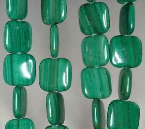 16MM Malachite LACE Jasper Gemstone Grade AA Yellow Square Loose Beads 7.5