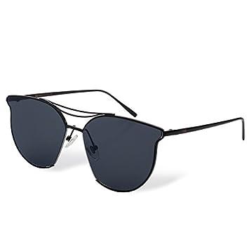 TL-Sunglasses donne Mens Occhiali da sole lenti a farfalla in metallo,argento