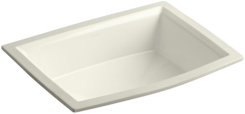 Undermount Biscuit Lavatory - KOHLER K-2355-96 Archer Undercounter Bathroom Sink, Biscuit