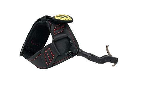 (TruFire Hardcore Buckle Foldback Adjustable Archery Compound Bow Release - Black Wrist Strap with Foldback Design (Renewed))