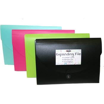 DDI 2279646 13 Pocket Expanding File - Assorted Colors Case of 24