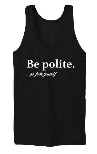 Be Polite Tanktop Girls Noir