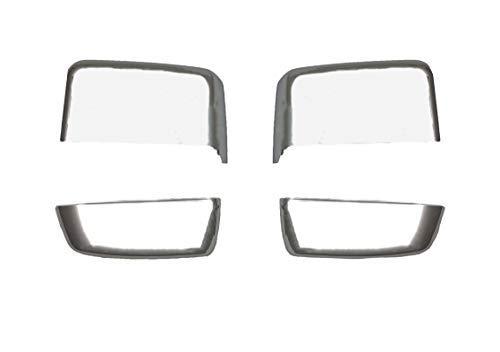 Fits (2015-2019) - Chevy Silverado GMC Sierra Chrome GM Tow Mirror Cap Cover Replacement