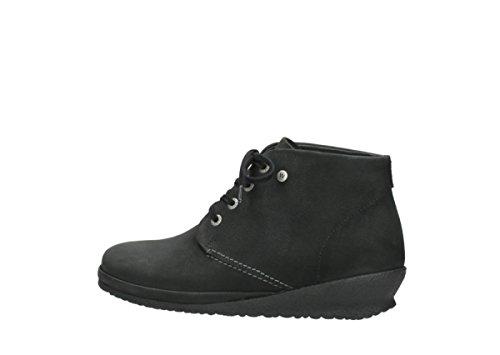 Sacramento Noir À Lacets 11002 Comfort Nubuck Wolky Chaussures wHqZZ4