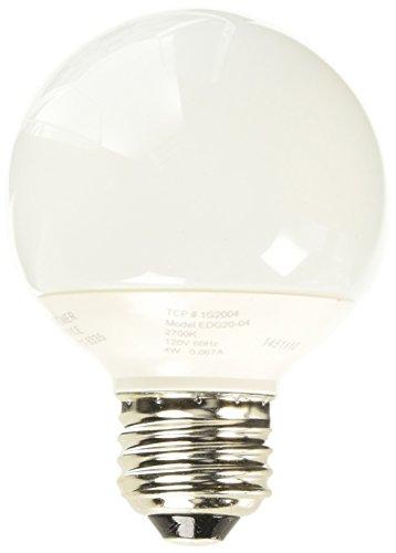 TCP 1G2004 4-watt G20 Globe CFL Lamp, 2700-Kelvin