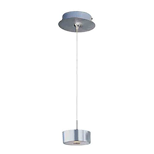 Frost Finish Desk - ET2 Lighting E94508-09SN Mini Pendant with Frost White Glass Shade, Satin Nickel Finish