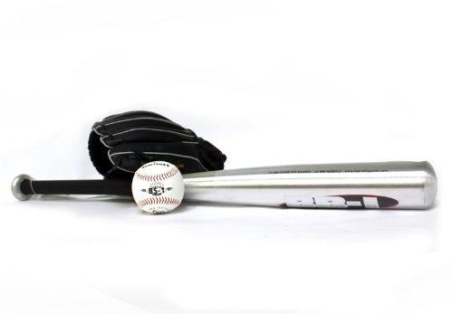 BGBA-1 Baseball Set Einführung, Senior, Aluminium, 1 Schläger + 1 Handschuh + Ball (BB-1 32, JL-120, TS-1)