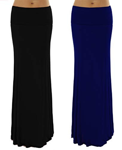 Dinamit Jeans 2 Pack Womens Rayon Spandex Maxi Skirt