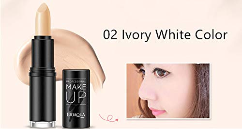 Highlighter Bronzer Concealer Pencil Make Up Modified Cover Defect Pen Foundation Dark Circle Face Eye Contour Stick Ivory White Color (Cover Concealer Maybelline Ivory Stick)