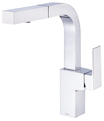 Danze Mid-Town Single Handle Pull Down Kitchen Faucet with SnapBack Retraction,Chrome