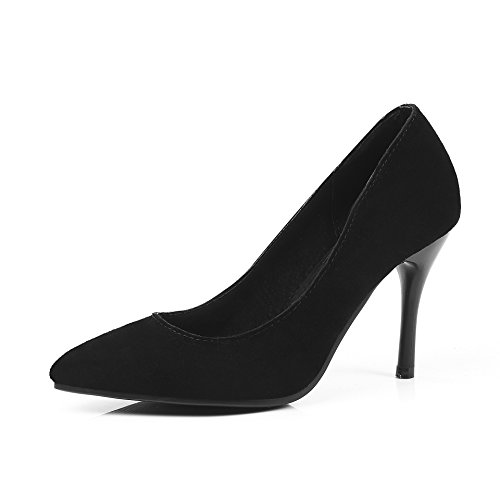 Talons Peu Stiletto Chaussures Profonde Chaussures Hauts amp;S MEI Black Bouche Femmes wqOnZf