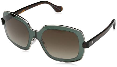 - Balenciaga BA0063-93F SUNGLASSES shiny light green Frame w/gradient brown Lens 55mm