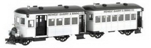Bachmann On30 Spectrum Rail Bus & Trailer w/DC BAC28499 by Bachmann Trains
