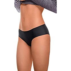 ARGOCLASSIC Premium Invisible Thin Womens Fitness Thongs Breathable Panties Underwear - 2 Colors (M, Black)