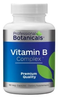 Professional Botanicals Vitamin B Complex - Energy and Metabolic Support - 90 Vegetarian Capsules