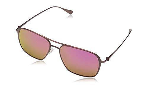 - Maui Jim Beaches P541-07M | Polarized Matte Brushed Burgundy Aviator Frame Sunglasses, Patented PolarizedPlus2 Lens Technology