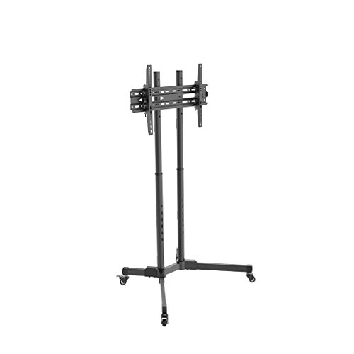 Pinzhi TV Ceiling & Wall Mounts 37-70 Inch TV Cart with Floor-Standing TV Rack, Cold Rolled Steel Mobile TV Stand, Video Conference Home TV Stand TV Ceiling & Wall Mounts ()