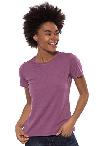- Texere Women's Short Sleeve T-Shirt (Spring Zing, Heather Plum, M) Best Lounge