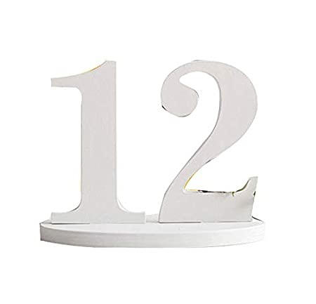 5 inches 1-20 Number Unpainted pure white table numbers set wedding table reception find your seat table numbers unpainted table numbers painted table numbers DIY numbers