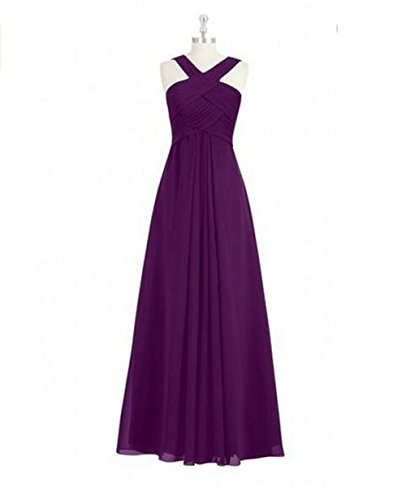 Botong Party Prom Halter Back Bridesmaid Neck Zip Dresses Long Dresses Chiffon Cr4CzPxw