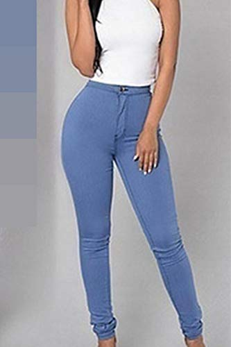 Long Blue Women Capri Skinny Shaping Zinmuwa Pants w1SqznC