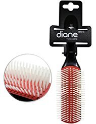 (Diane Nylon Bristle Hair Brush - Cushion 9-Row (1 Pack))