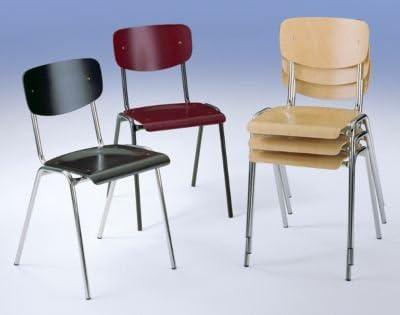 Guscio di legno sedia, il classico – Supporto cromato